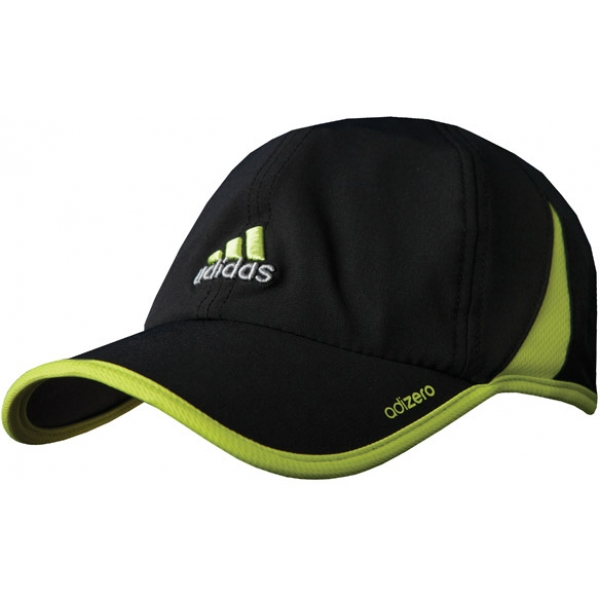 Adidas Men's adiZero Cap (Black/ Lime)