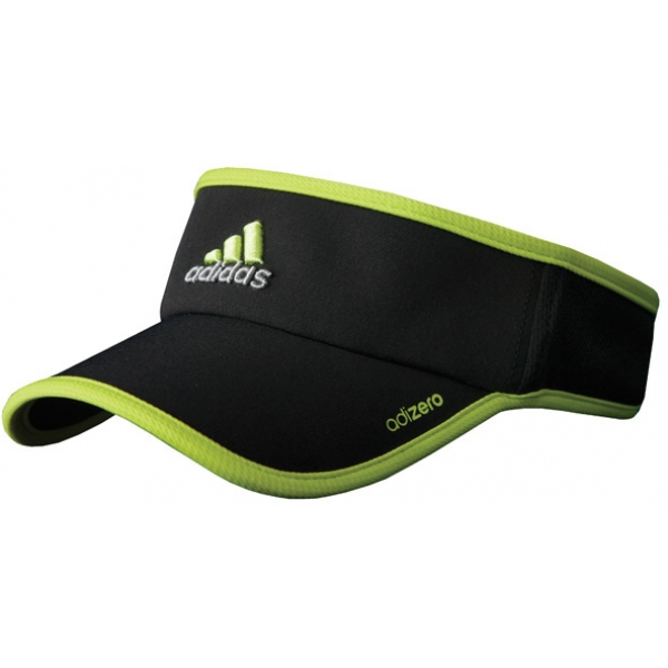 Adidas Men's adiZero Visor (Black/ Lime)