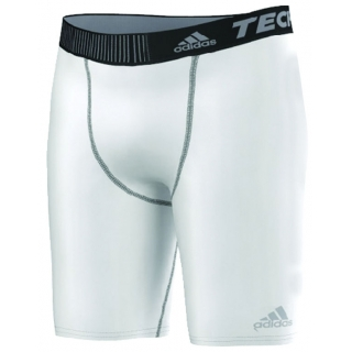 Adidas Men's Techfit Base Short Tight (White/Black)