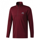 Adidas Men's Essentials Tech Quarter-Zip Tennis Training Top (Maroon) - Men's Jackets