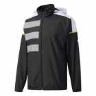 Adidas Men's Club Mesh Tennis Warm-Up Jacket (Black/White/Yellow - Men's Jackets