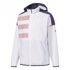 Adidas Men's Club Mesh Tennis Warm-Up Jacket (White/Scarlet/Navy) - Men's Jackets