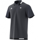 Adidas Men's Roland Garros Tennis Polo (Night Grey/White) - Adidas Tennis Apparel