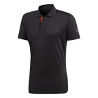 Adidas Men's Barricade Engineered Tennis Polo (Black/Scarlet) - Men's Tops