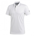 Adidas Men's Barricade Engineered Tennis Polo (White/Black) - Men's Tops