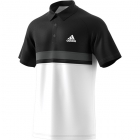 Adidas Men's Club Color Block Tennis Polo (Black/White) - Men's Polo Shirts