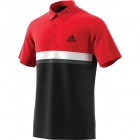 Adidas Men's Club Color Block Tennis Polo (Scarlet) - Men's Polo Shirts