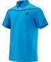 Adidas Men's Adipower Polo (Solar Blue/Night Blue) - Adidas Men's Apparel Tennis Apparel