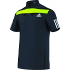 Adidas Men's Adipower Barricade Traditional Polo (Navy/Green) - Men's Tops Polo Shirts Tennis Apparel