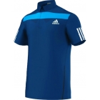 Adidas Men's Adipower Barricade Traditional Polo (Solar Blue/White) - Men's Tops Polo Shirts Tennis Apparel