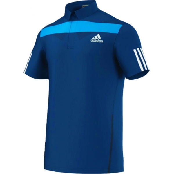 Adidas Men's Adipower Barricade Traditional Polo (Solar Blue/White)