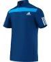 Adidas Men's Adipower Barricade Traditional Polo (Solar Blue/White) - Adidas Men's Apparel Tennis Apparel