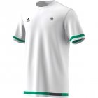 Adidas Men's Roland Garros Tennis Tee (White/Black/Core Green) - New Adidas Apparel