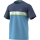 Adidas Men's Club Color Block Tennis Tee (Ash Blue) - Tennis Apparel
