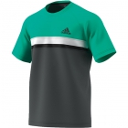 Adidas Men's Club Color Block Tennis Tee (Hi-Res Green) - Men's T-Shirts & Crew Necks