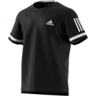 Adidas Men's Club Three Stripe Tennis Tee (Black/White) - Men's T-Shirts & Crew Necks
