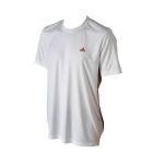 Adidas Men's Sequentials Galaxy Crew Tee (White/Red) - Tennis Apparel