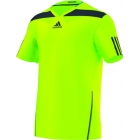 Adidas Men's Adipower Barricade Crew Tee (Green/Solar Blue) - Tennis Apparel