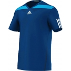 Adidas Men's Adipower Barricade Crew Tee (Solar Blue/White) - Tennis Apparel
