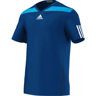 Adidas Men's Adipower Barricade Crew Tee (Solar Blue/White)
