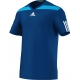Adidas Men's Adipower Barricade Crew Tee (Solar Blue/White) - Men's Tops T-Shirts & Crew Necks Tennis Apparel