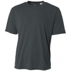 A4 Men's Performance Crew Shirt (Graphite) - Men's Tops