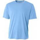 A4 Men's Performance Crew Shirt (Light Blue) - Men's Tennis Apparel