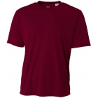 A4 Men's Performance Crew Shirt (Maroon) - Men's Tops