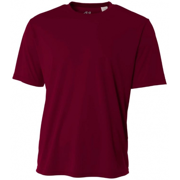 A4 Men's Performance Crew Shirt (Maroon)