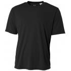 A4 Men's Performance Crew Shirt (Black) - A4 Men's Tennis T-Shirts & Crew Necks