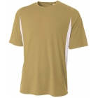 A4 Men's Performance Color Block Crew Shirt (Vegas Gold) - Tennis Apparel Brands