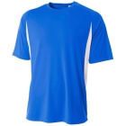 A4 Men's Performance Color Block Crew Shirt (Royal) - Tennis Apparel Brands