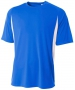 A4 Men's Performance Color Block Crew Shirt (Royal) - A4 Team Tennis Apparel