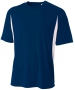 A4 Men's Performance Color Block Crew Shirt (Navy) - A4 Team Tennis Apparel