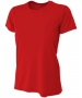 A4 Women's Cooling Performance Crew (Scarlet) - A4 Women's Tennis T-Shirts & Crew Necks