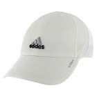 Adidas Women's Adizero II Cap (White/ Black/ Platinum) - Tennis Hats