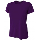 A4 Women's Cooling Performance Crew (Purple) - A4 Women's Tennis T-Shirts & Crew Necks