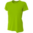 A4 Women's Cooling Performance Crew (Lime) - A4 Women's T-Shirts & Crew Necks
