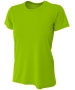 A4 Women's Cooling Performance Crew (Lime) - A4 Women's Tennis T-Shirts & Crew Necks