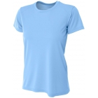 A4 Women's Cooling Performance Crew (Light Blue) - A4 Women's Tennis T-Shirts & Crew Necks