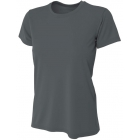 A4 Women's Cooling Performance Crew (Graphite) - A4 Women's Tennis T-Shirts & Crew Necks