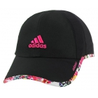 Adidas Women's Adizero II Cap (Black/ Floral/ Pink) - Tennis Accessories
