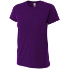 A4 Women's Performance Tri Blend Tee (Purple) -