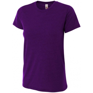 A4 Women's Performance Tri Blend Tee (Purple)