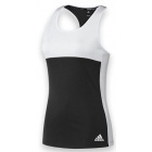 Adidas Women's T16 Team Tank (Black/ White) - Women's Tennis Apparel