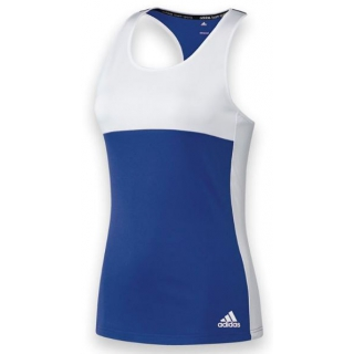 Adidas Women's T16 Team Tank (Royal/ White)