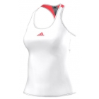 Adidas Women's Pro Tank (White/ Flash Red) - Women's Tennis Apparel