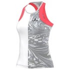 Adidas Stella McCartney Barricade Tank-NYC (White/Oyster/Flash Red) - Women's Tennis Apparel