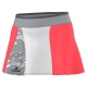 Adidas Stella Barricade Skort-NYC (Flash Red/Oyster Grey/White) - Women's Skorts