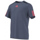 Adidas Men's Barricade Tee (Tech Ink/Flash Red) - Tennis Apparel